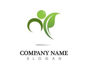 Tree leaf vector logo design, eco-friendly concept.