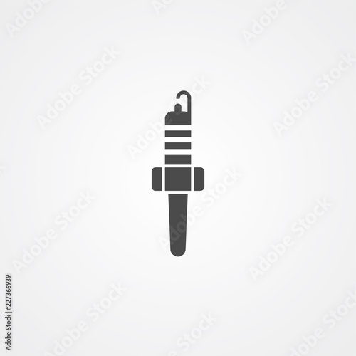 Spark Plug Vector Icon Sign Symbol Stock Image And Royalty Free
