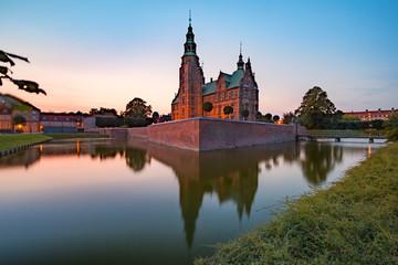 Rosenborg Castle or Rosenborg Slot at sunset, Copenhagen, capital of Denmark