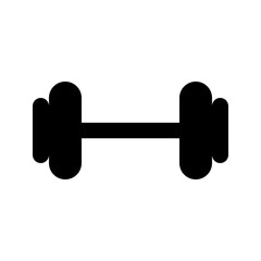 Dumbbell Big Sport Fitness Weight vector icon