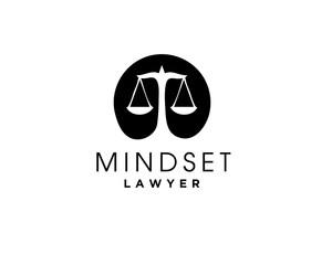 Scale of Justice Negative Space in brain Logo Design Inspiration