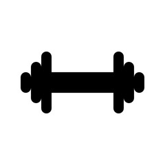 Dumbbell Small Sport Fitness Weight vector icon