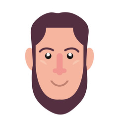 man face character on white background