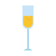 champagne drink on white background