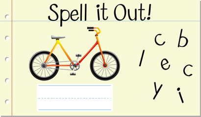 Spell English word bicycle