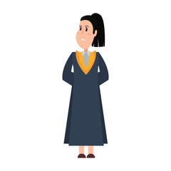 graduate woman wearing graduation gown