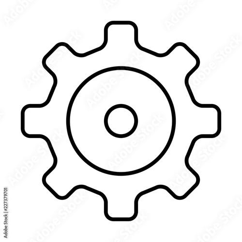 Gear Wheel Mechanican Car Repair Garage Car Workshop Vector Icon
