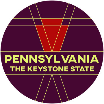 pennsylvania: the keystone state | digital badge
