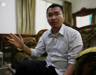 Mohd Saiful Bukhari Azlan, a former aide to Malaysian PM-in-waiting Anwar Ibrahim, speaks to Reuters in Kuala Lumpur