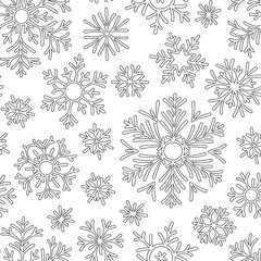 Christmas pattern from snowflakes