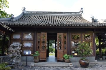 Lan Su Chinese Garden in Chinatown in Portland, Oregon