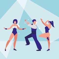 group of dancers design