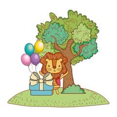 Poster Castle Happy birthday cute animal
