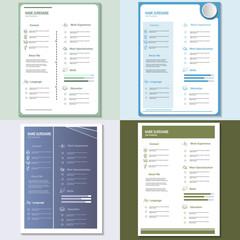 Creative cv resume vector