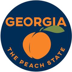 georgia: the peach state | digital badge