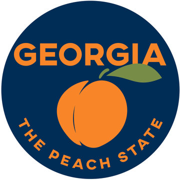 georgia: the peach state | digital badge