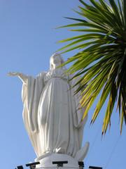 Santuario de la Inmaculada Concepcion Cerro San Cristobal Santiago de Chile ft20106366 Immacolata Concezione The statue of the Virgin Mary at San Cristobal Hill