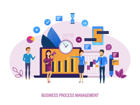 Business process management. Market research, time management, task distribution control.