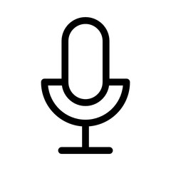 Microphone Recording Music Gui Web vector icon