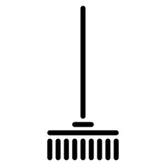 Rake Household Housekeeping Clean Wash vector icon