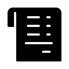 Receipt Finance Money Cash Bank vector icon