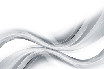 Gray and white abstract waves background.
