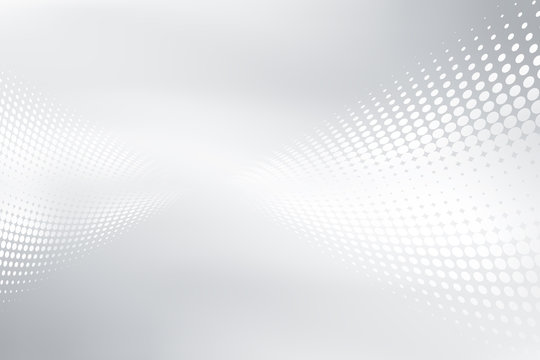 White and gray halftone background. Dots composition for your design.