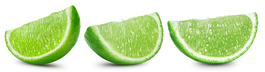 limes fruit isolated Clipping Path