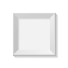 Minimalist square frame with blank artboard isolated on white background vector illustration.