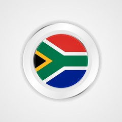 South africa flag in glossy vector icon.