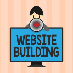 Text sign showing Website Building. Conceptual photo tools that typically allow the construction of pages.