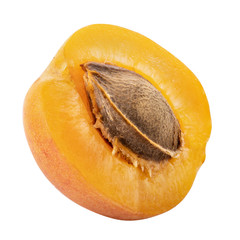 Fresh apricot isolated on white background. Clipping path