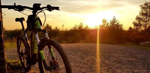 Foto auf Leinwand Braun E-Bike