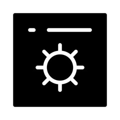 Settings App Gearwheel Project Management Business Office Working vector icon