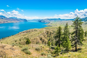 Foto auf Gartenposter Beige View at the Kamloops lake in British Columbia - Canada