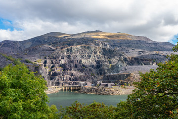 Dinorwig Quarry, Abandoned Slate quarry, Llanberis, Snowdonia national Park, Wales
