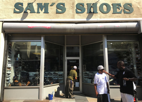 Sam's Shoes on Penn Ave run by brothers Sam and Vince Arabia who inherited it from their father, is one of the oldest businesses in the East Liberty neighborhood in Pittsburgh