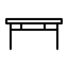Table Housekeeping Home Furniture Living Interior vector icon