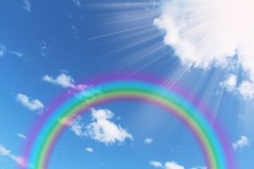 虹と日差し