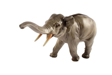 Realistic elephant statue stock images. Figurine elephant stock images. Elephant isolated on a white background