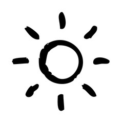 Sun Weather Forecast Atmosphere Condition vector icon