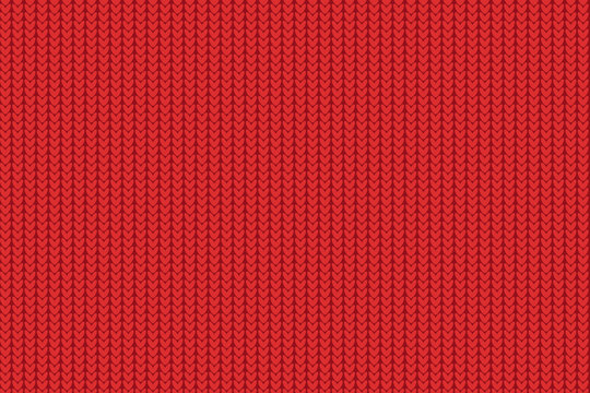 Seamless Christmas red knitted pattern.