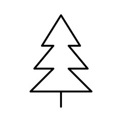 Tree Nature Christmas Plant Forest vector icon