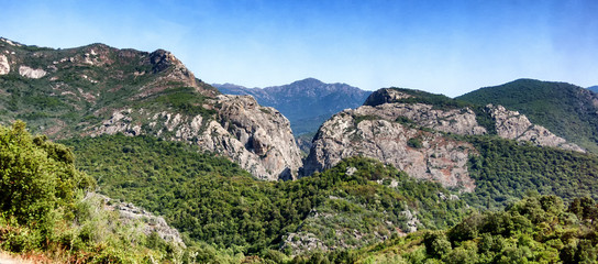 view of mountains in Sardinia