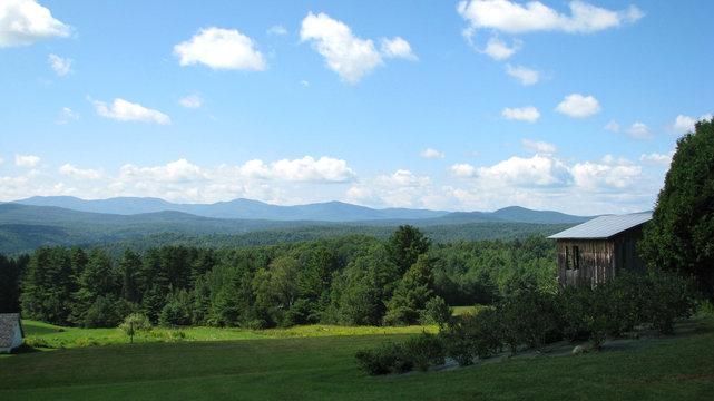 Northern Vermont Mountainous Landscape