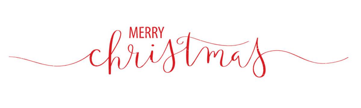 MERRY CHRISTMAS brush calligraphy banner