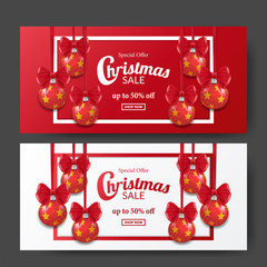 Christmas sale banner elegant for promotion or marketing