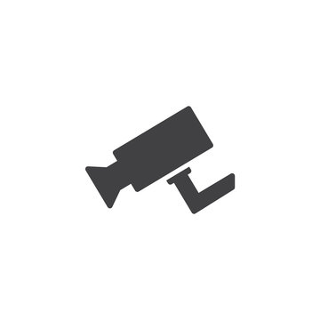 Cctv camera vector icon. filled flat sign for mobile concept and web design. Surveillance Camera simple solid icon. Symbol, logo illustration. Pixel perfect vector graphics