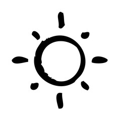 Sun Travel Trip Hotel Journey vector icon