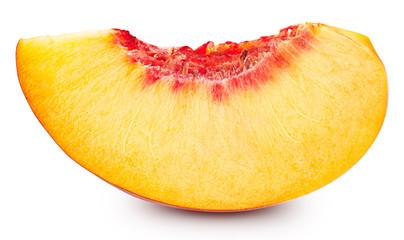 peach fruits isolated